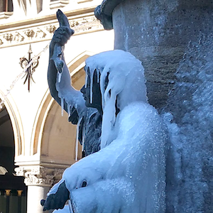 Ice lady with fish